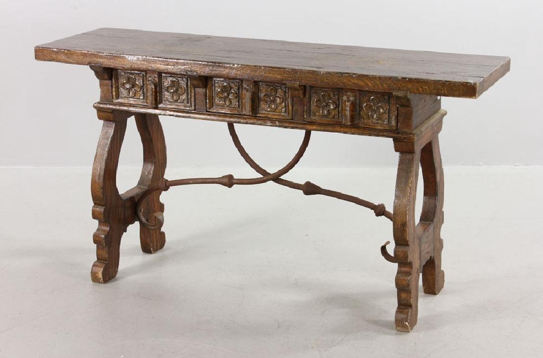 Continental Oak Hall Table