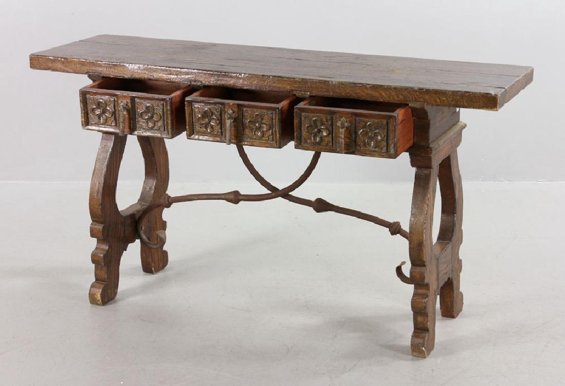 Continental Oak Hall Table - 2