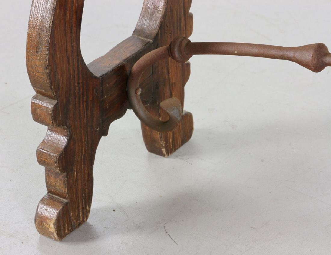 Continental Oak Hall Table - 4