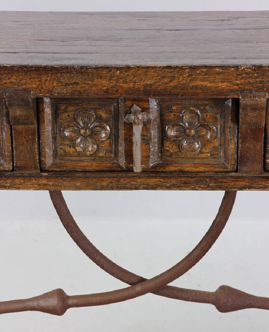 Continental Oak Hall Table - 5