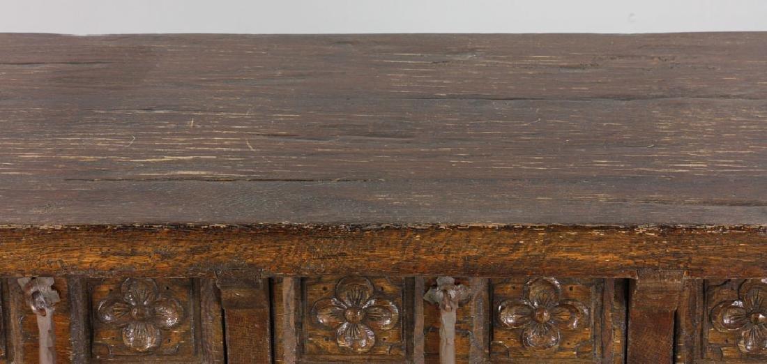Continental Oak Hall Table - 6