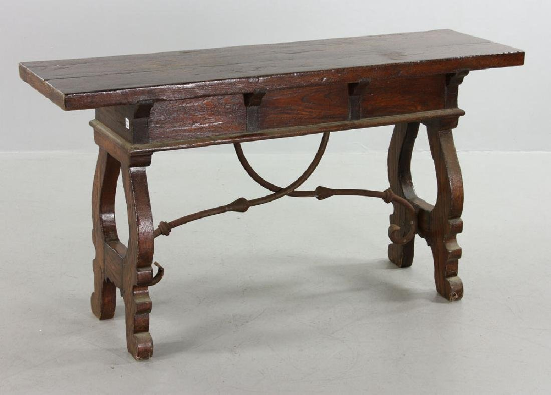 Continental Oak Hall Table - 7
