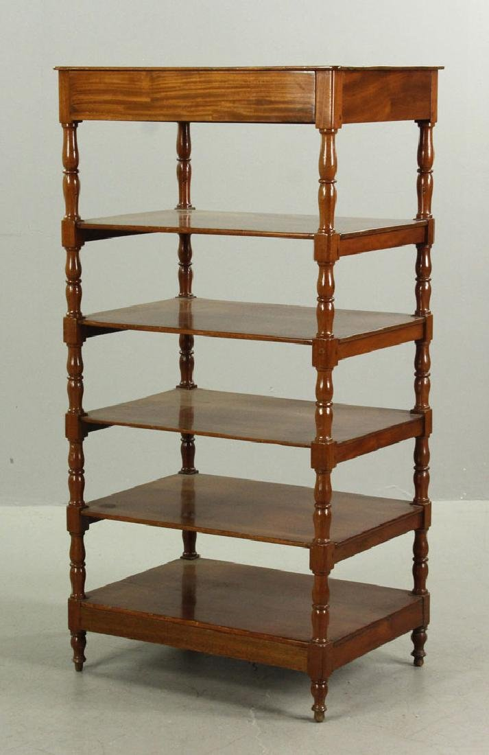 Regency Mahogany Five Shelf Etagere