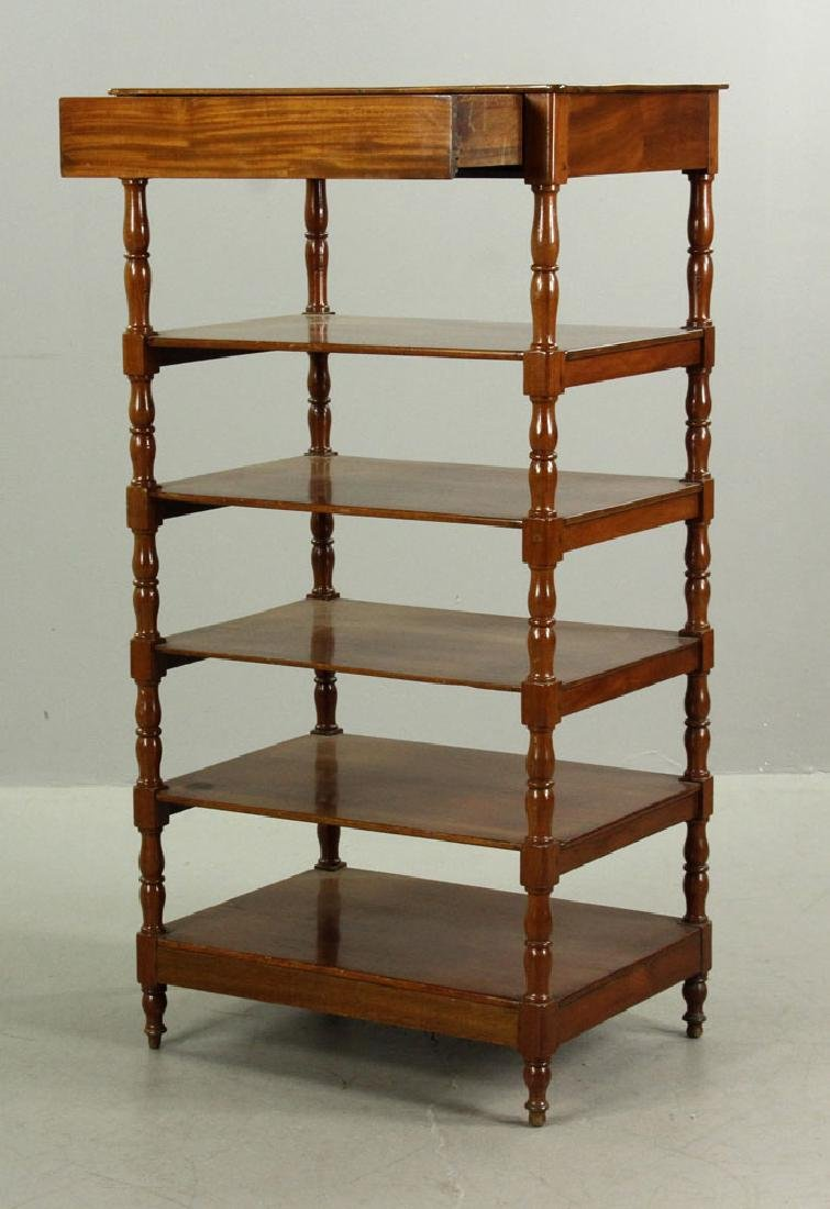 Regency Mahogany Five Shelf Etagere - 2