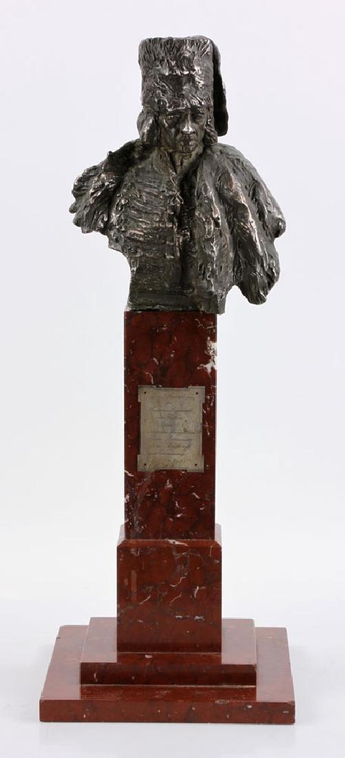 Aktien-Gesellschaft Gladenbeck Bronze Bust on Marble