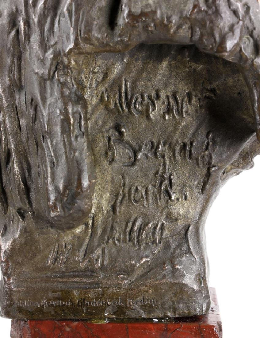 Aktien-Gesellschaft Gladenbeck Bronze Bust on Marble - 9