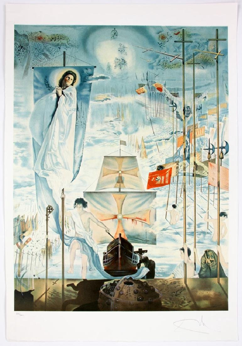 "After Dali, ""The Discovery of America by Columbus"", 4 - 2"