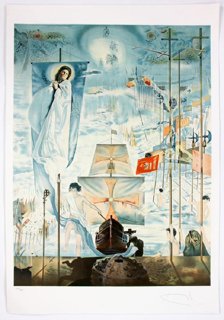 "After Dali, ""The Discovery of America by Columbus"", 4 - 4"