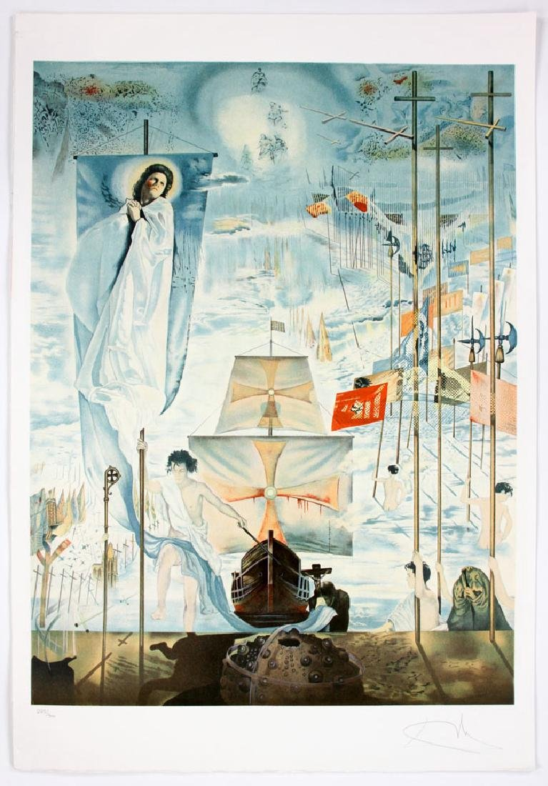 "After Dali, ""The Discovery of America by Columbus"", 4 - 5"