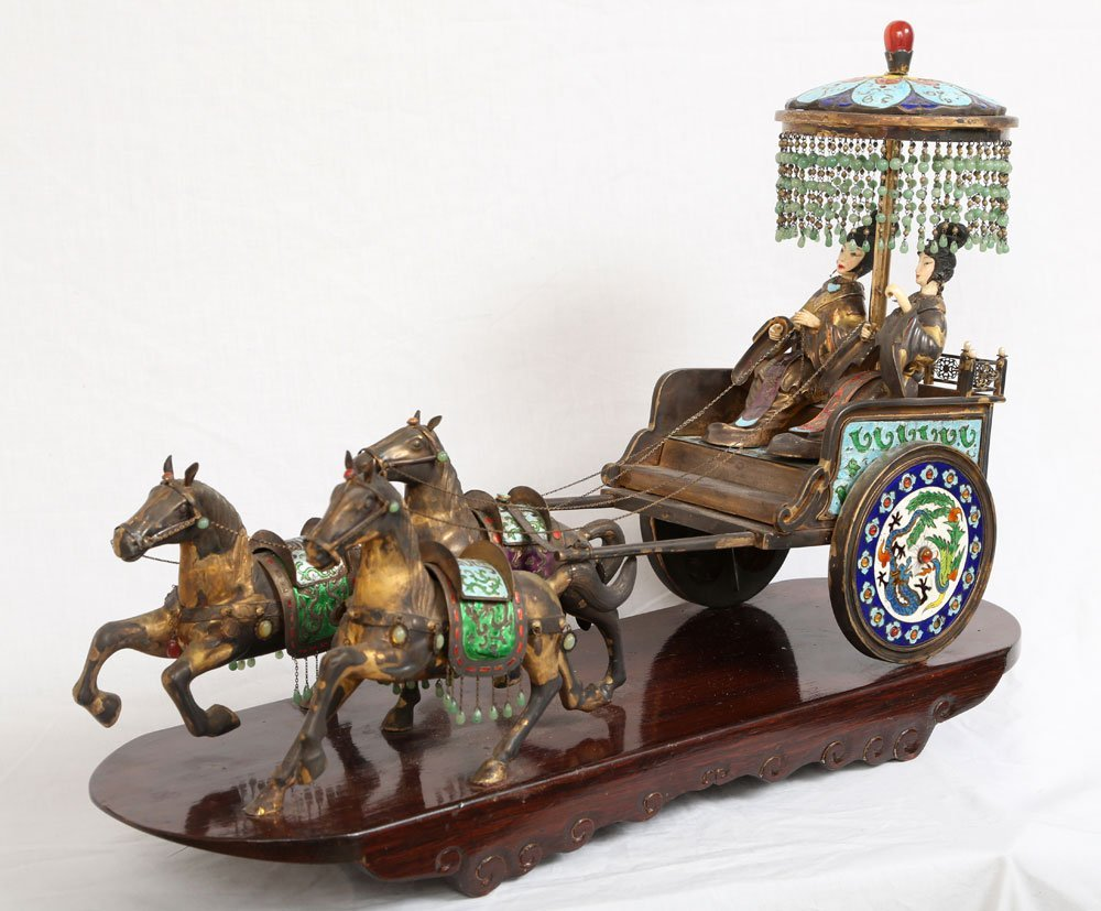 Miniature Sterling Ceremonial Carriage