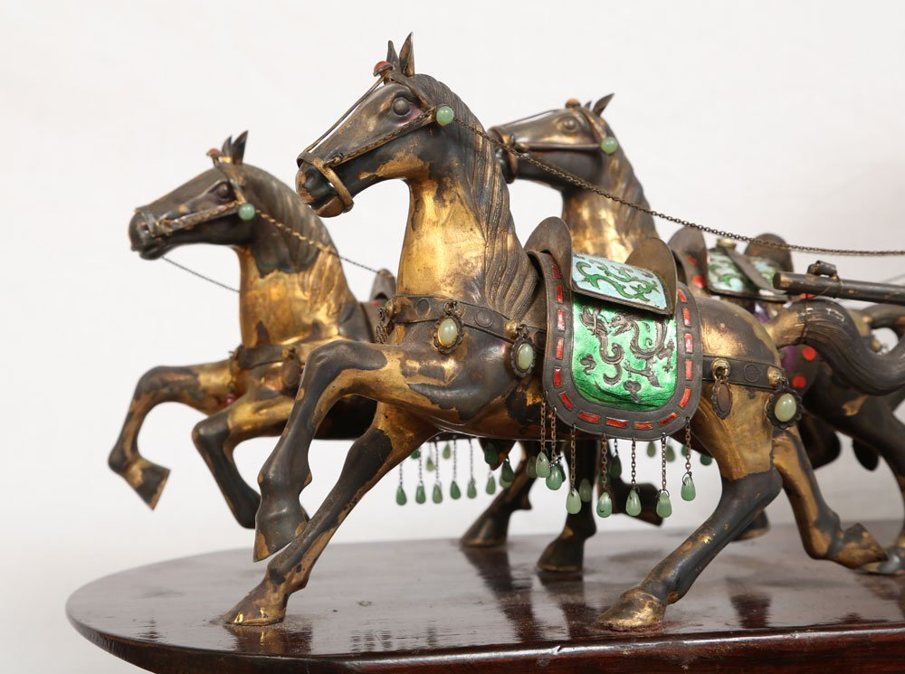 Miniature Sterling Ceremonial Carriage - 6