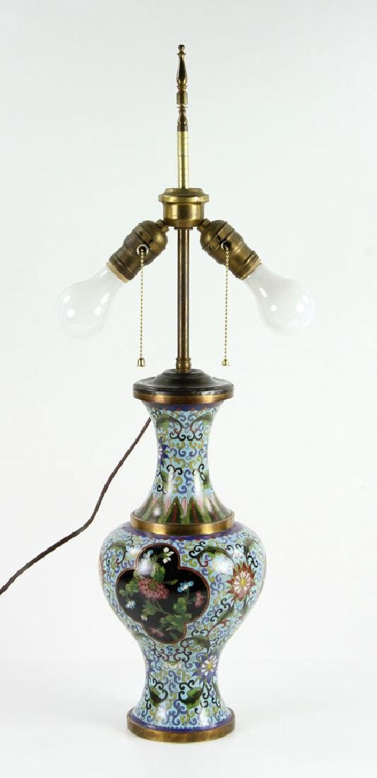 Asian Cloisonne Lamp