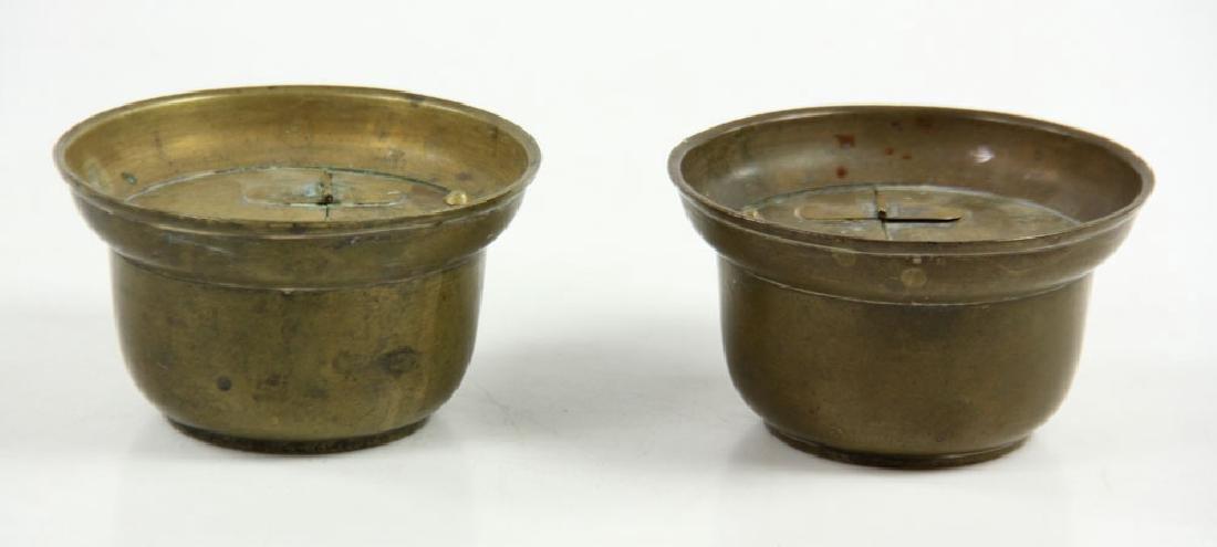 Pr. 19th C. Japanese Altar Candlesticks