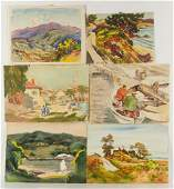 Lester G Hornby Watercolor Grouping