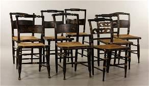 Assembled Set of Eight Sheraton Chairs