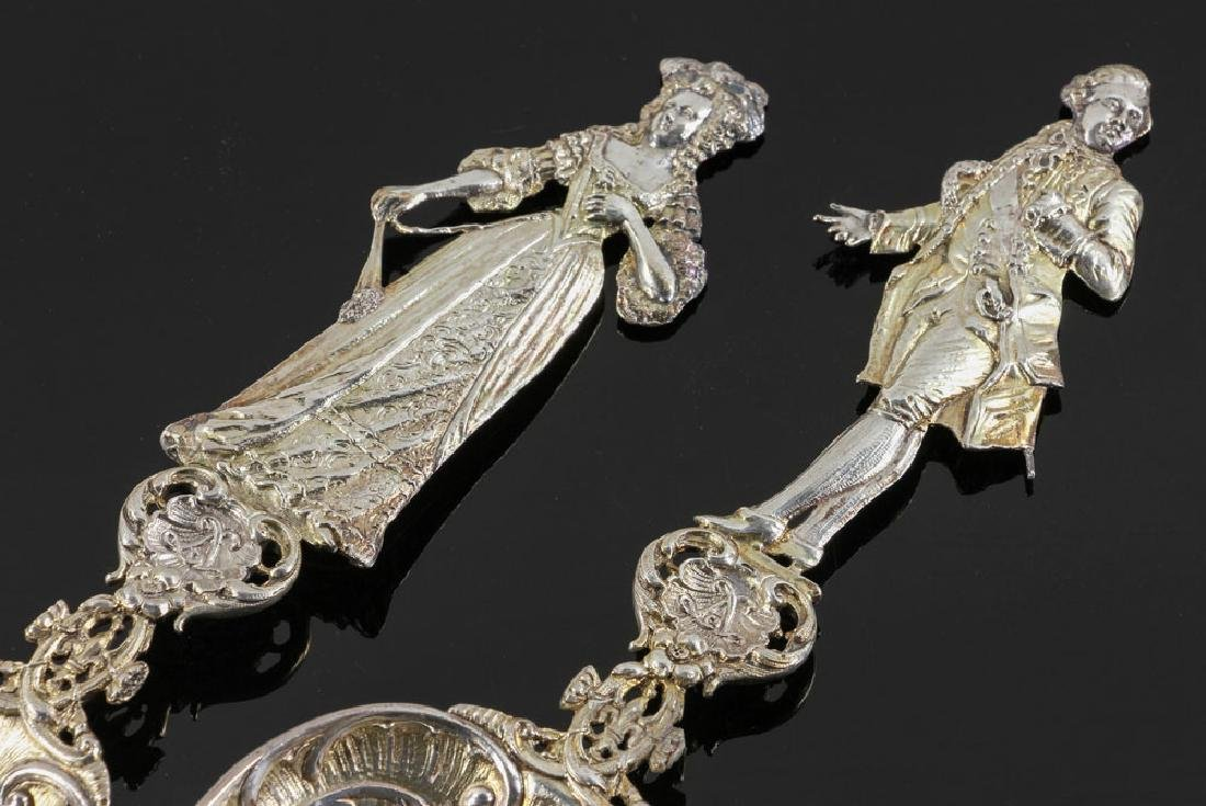 Four Ornate Silver Spoons - 5
