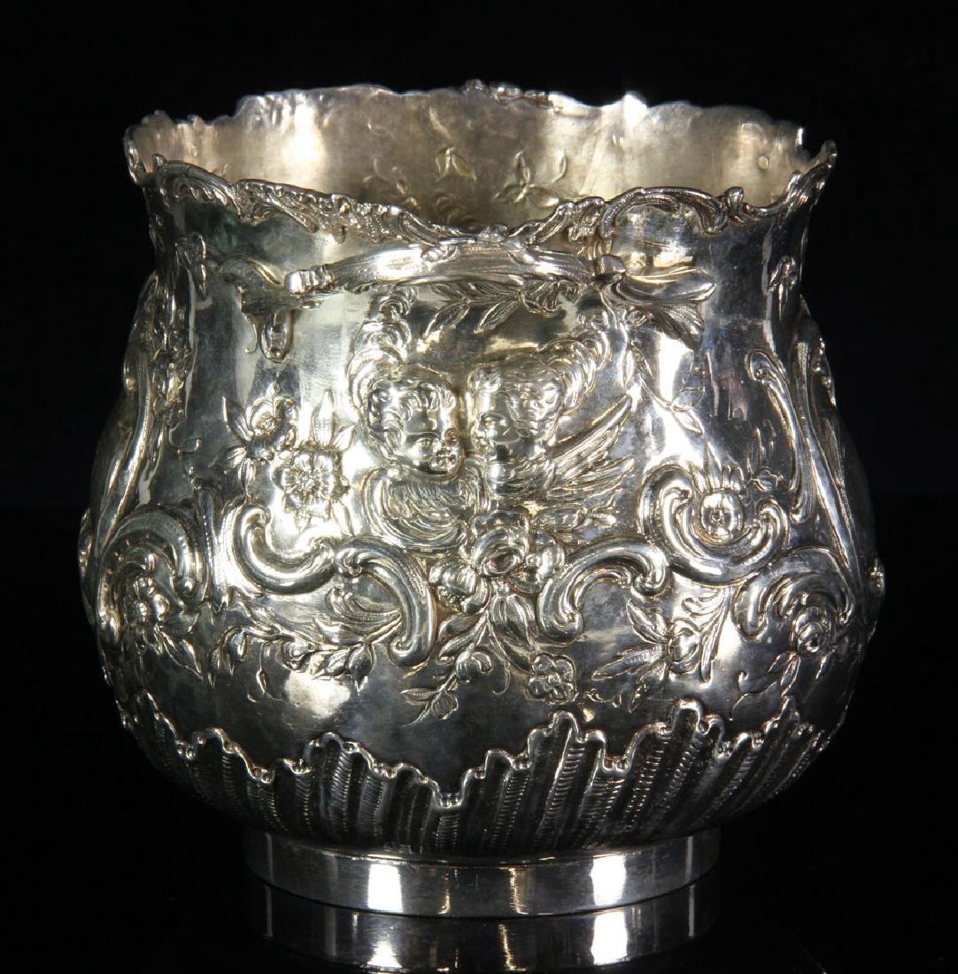 Pair of Repousse Silver Cashe Pots - 2