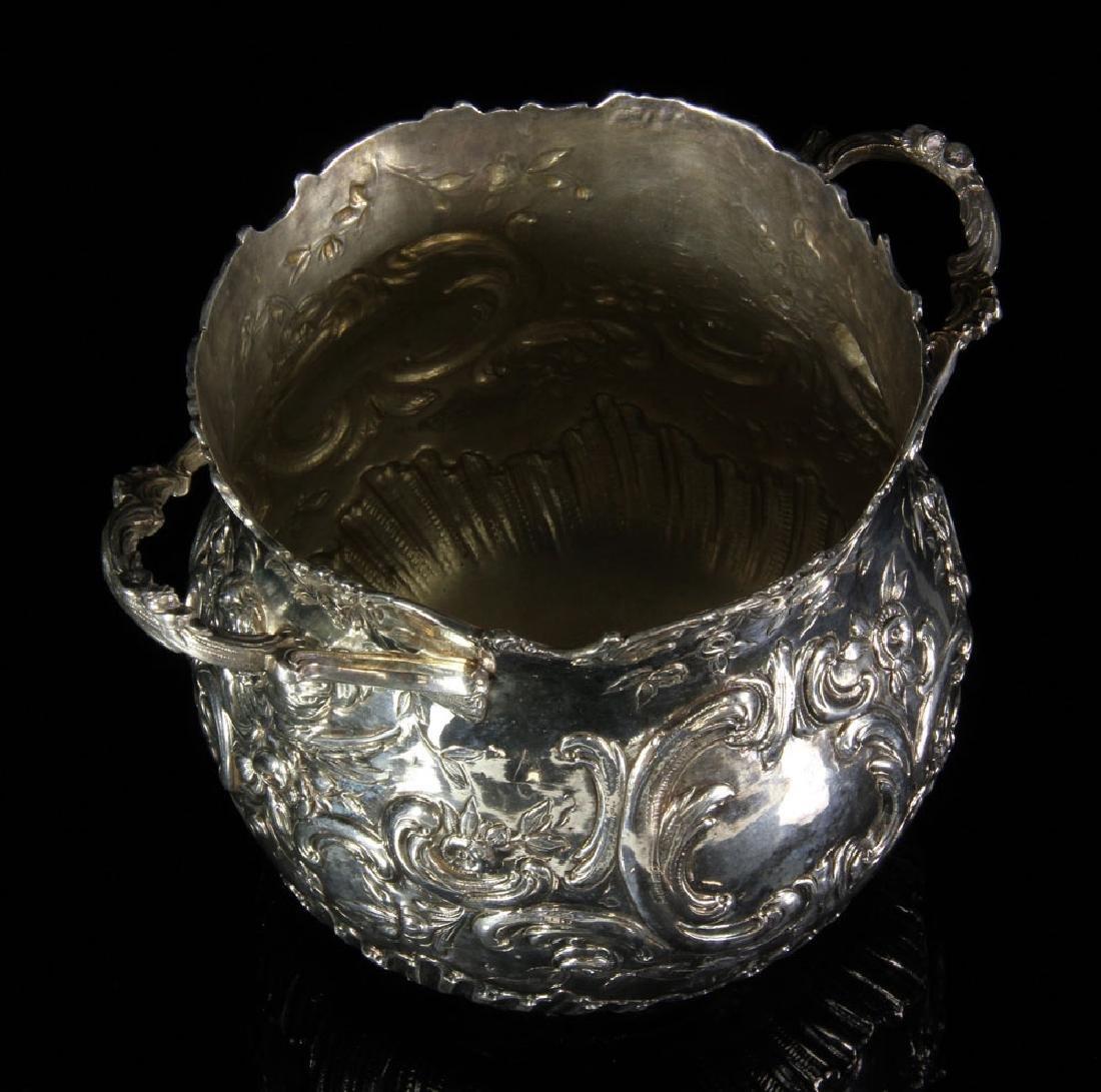 Pair of Repousse Silver Cashe Pots - 3
