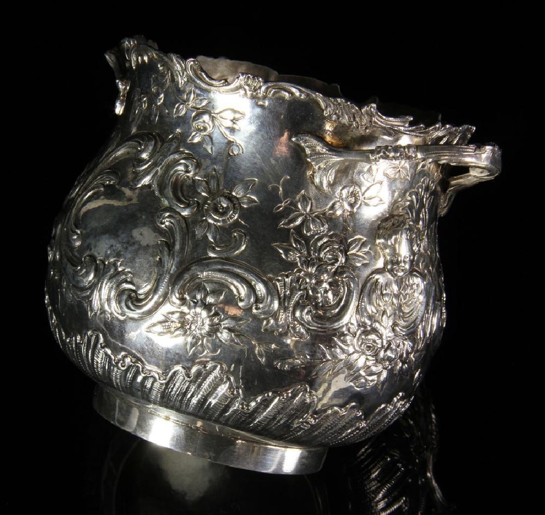 Pair of Repousse Silver Cashe Pots - 4