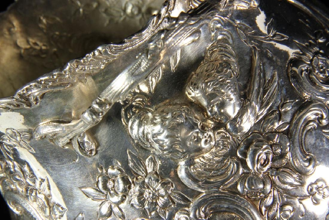 Pair of Repousse Silver Cashe Pots - 6