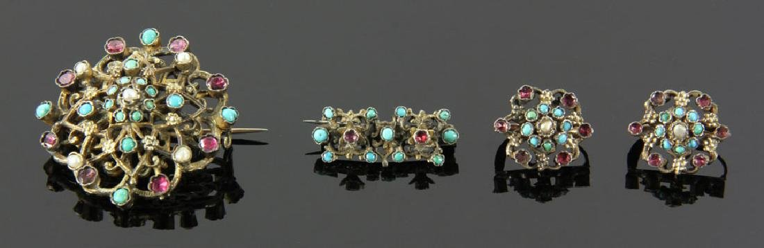 Gilt Silver Jewelry Suite - 2