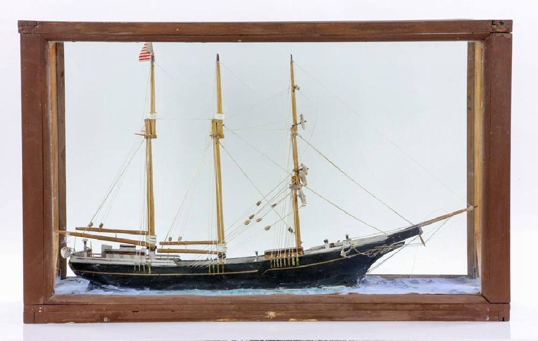 Model Sailing Ship in Case - 2