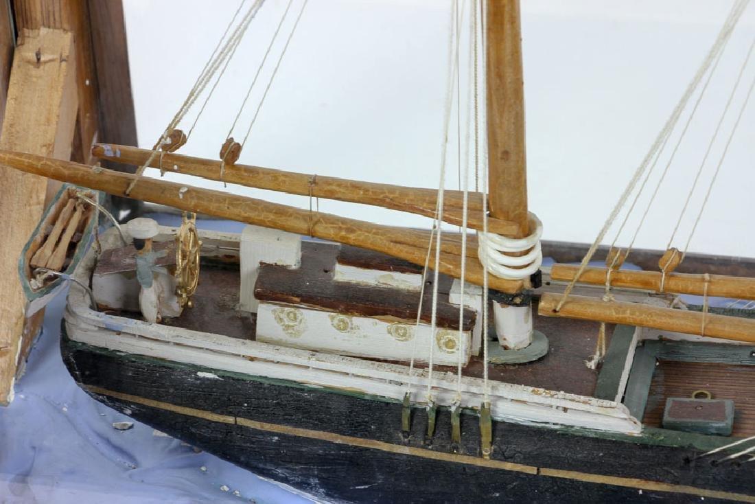 Model Sailing Ship in Case - 4
