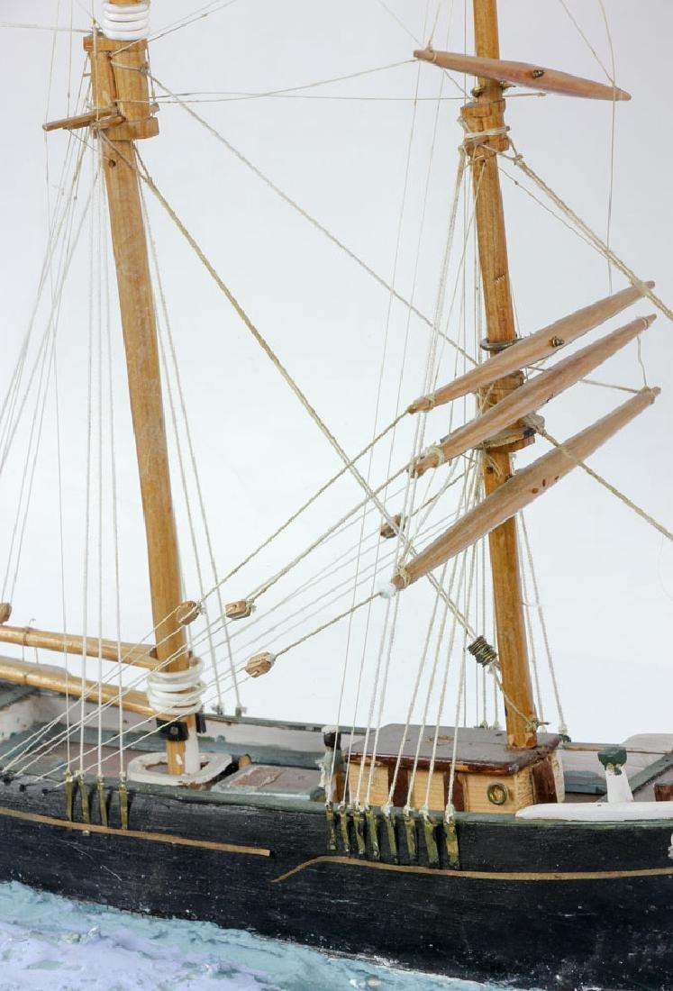 Model Sailing Ship in Case - 5