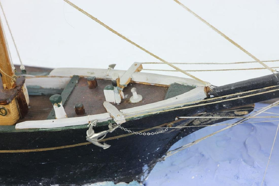 Model Sailing Ship in Case - 6