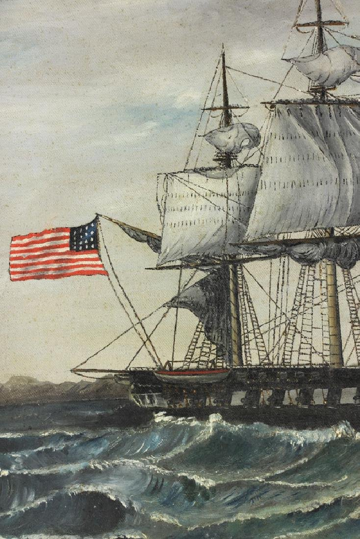 American School, USS Constitution, Oil on Canvas - 3