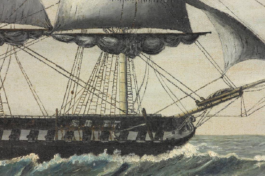 American School, USS Constitution, Oil on Canvas - 4