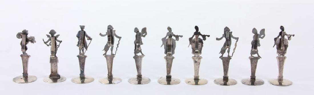 Ten Figural Silver Place Card Holders - 2