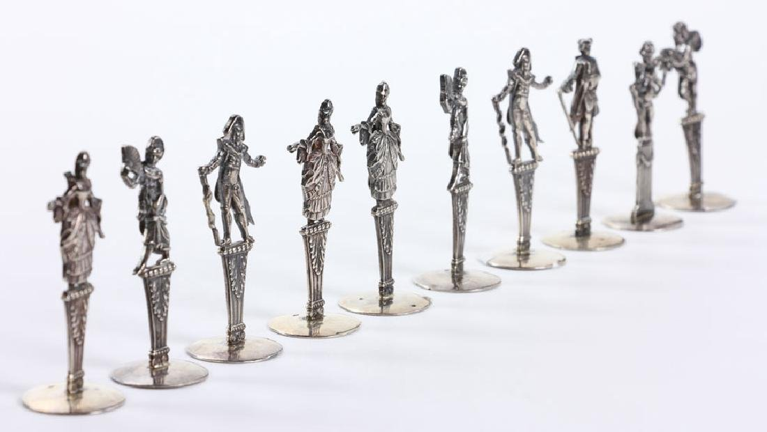 Ten Figural Silver Place Card Holders - 3