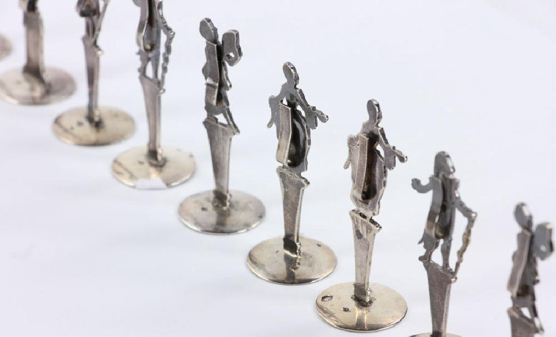 Ten Figural Silver Place Card Holders - 4