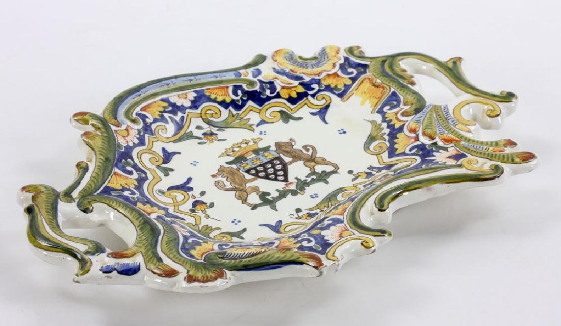 French Armorial Faience Dish - 4