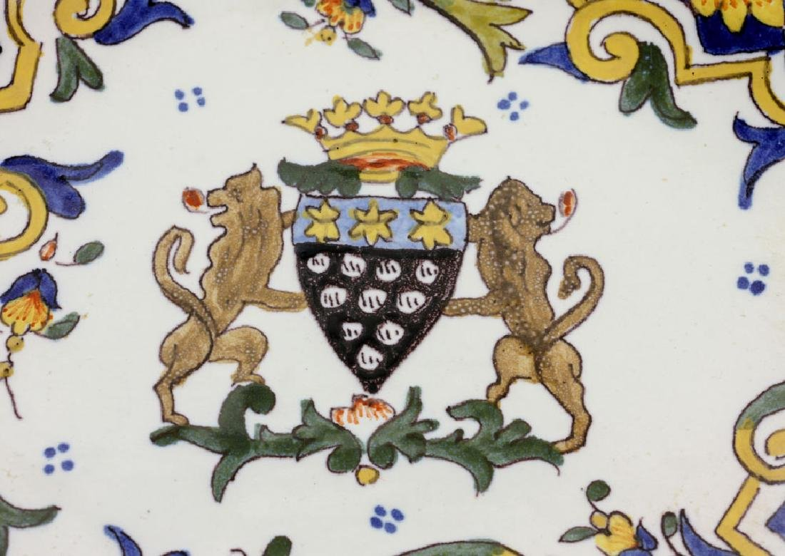 French Armorial Faience Dish - 5