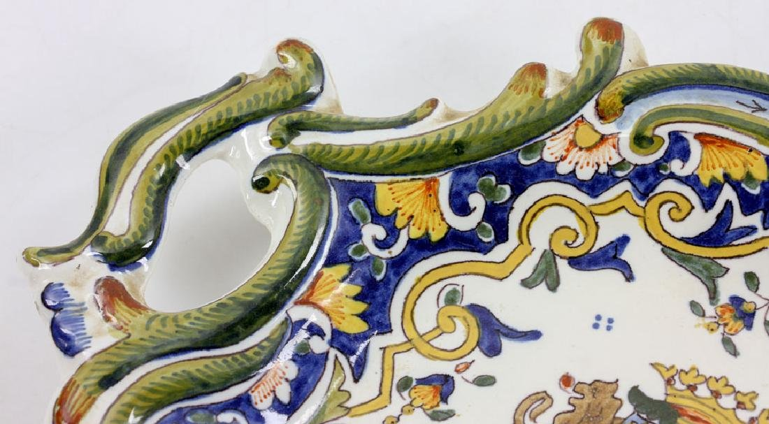 French Armorial Faience Dish - 6