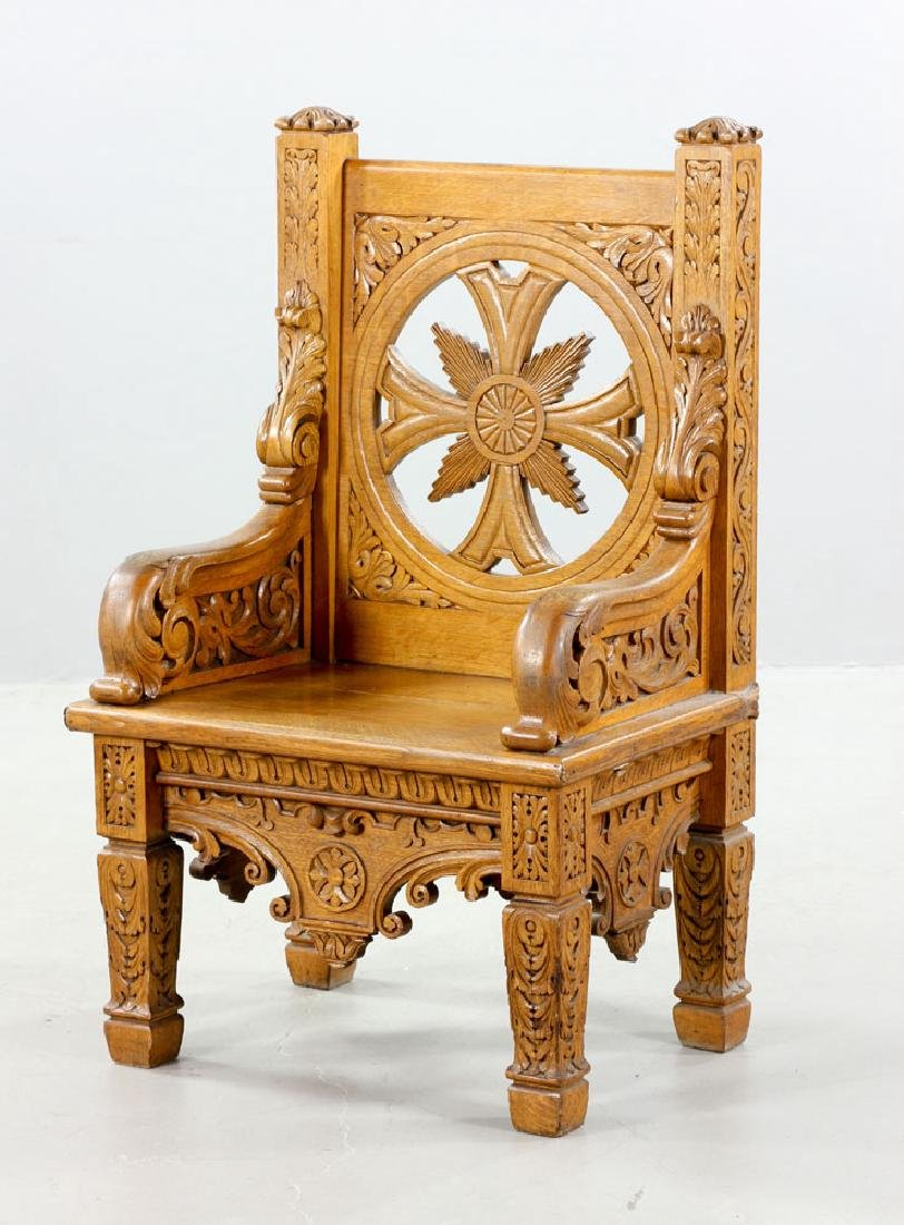 Natural Oak Armchair