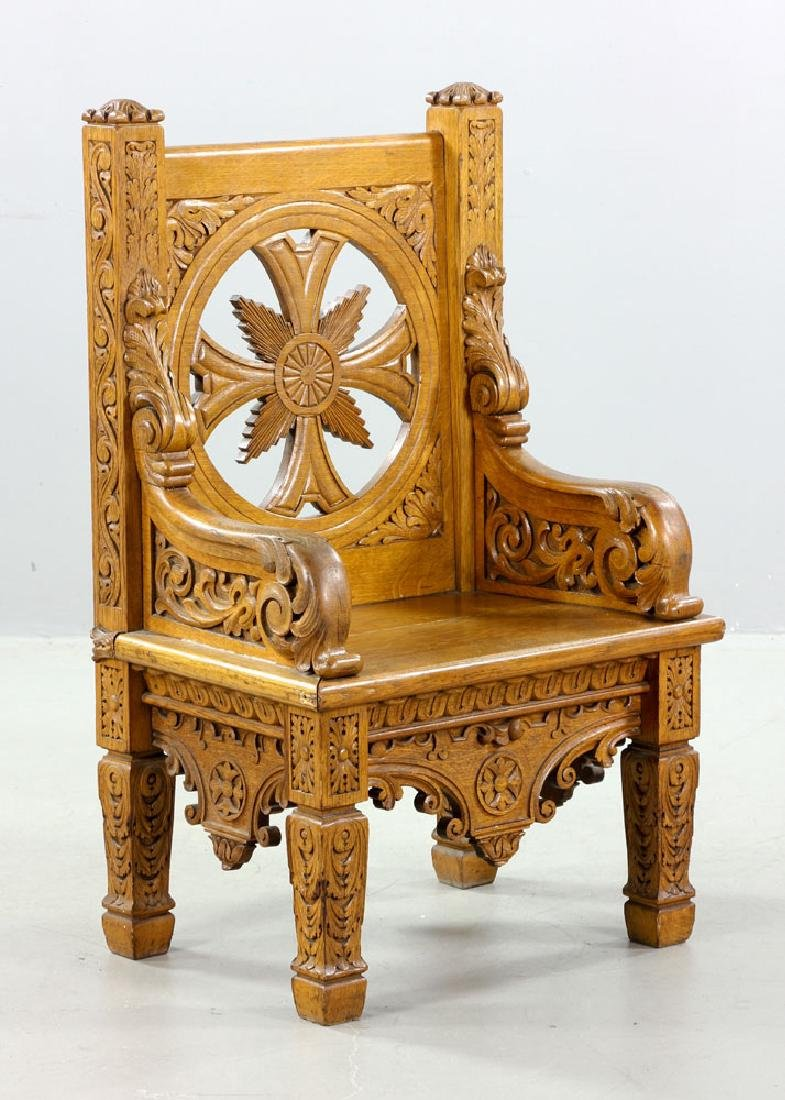 Natural Oak Armchair - 3