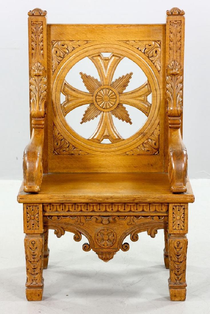 Natural Oak Armchair