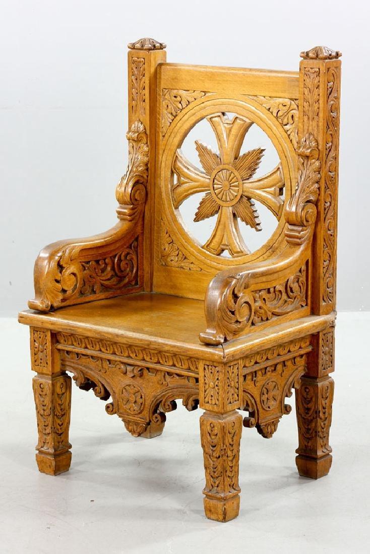 Natural Oak Armchair - 3