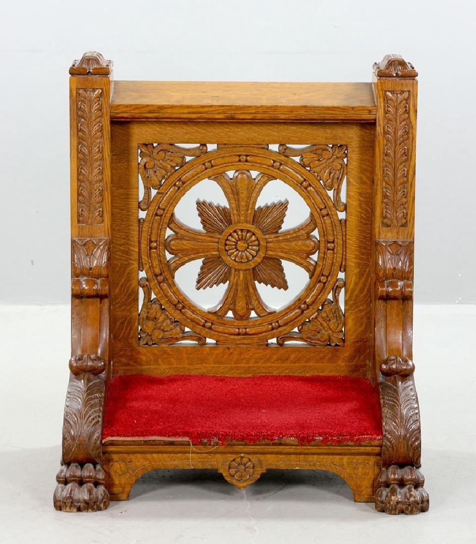 Oak Confessional Kneeler