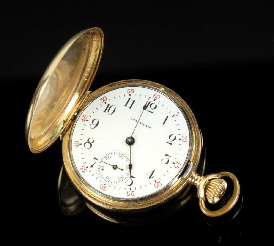 Two 14K Gold Waltham Pocket Watches - 2
