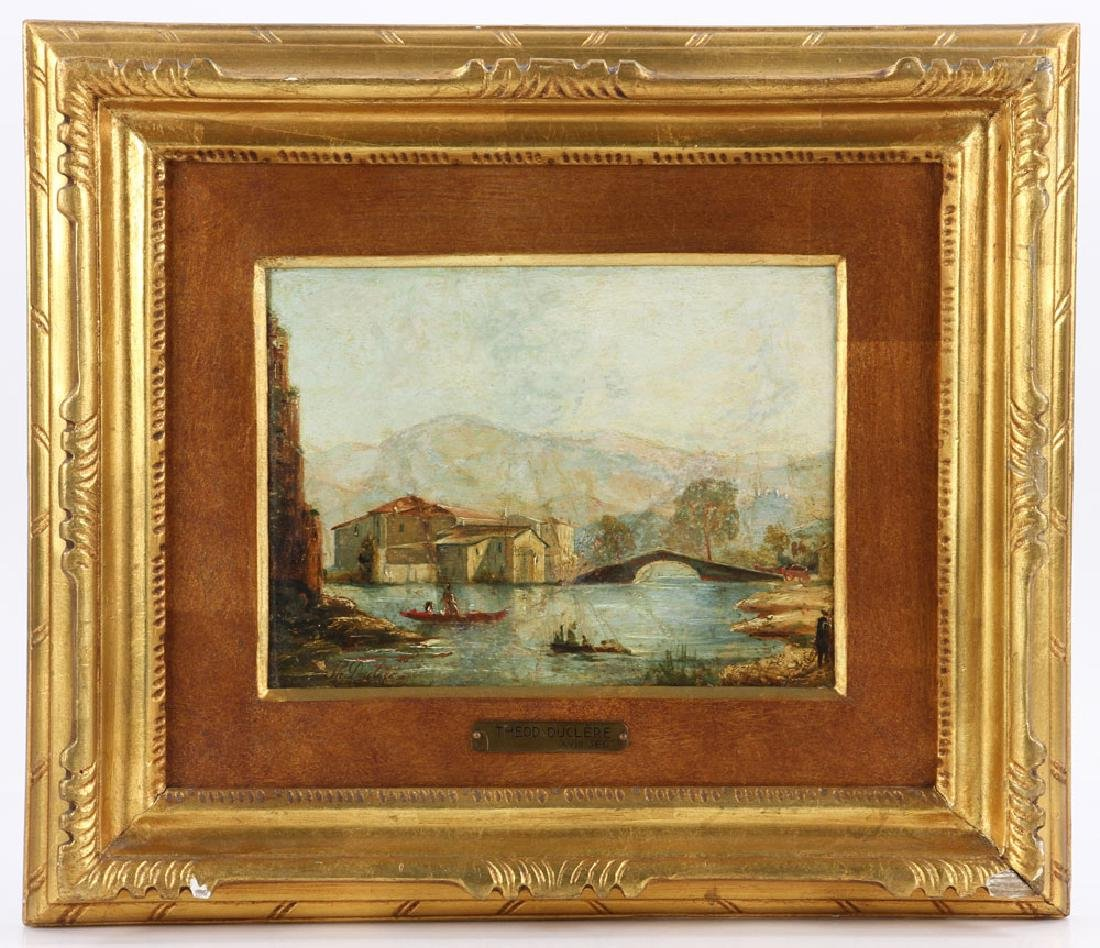 Duclere, Architectural View, Oil on Canvas