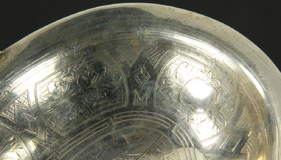 Russian Silver Engraved Basket - 3