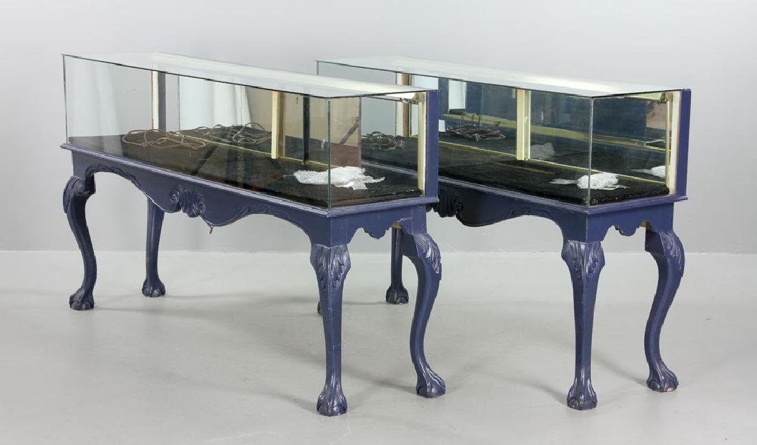 Pair of Glass Display Cases