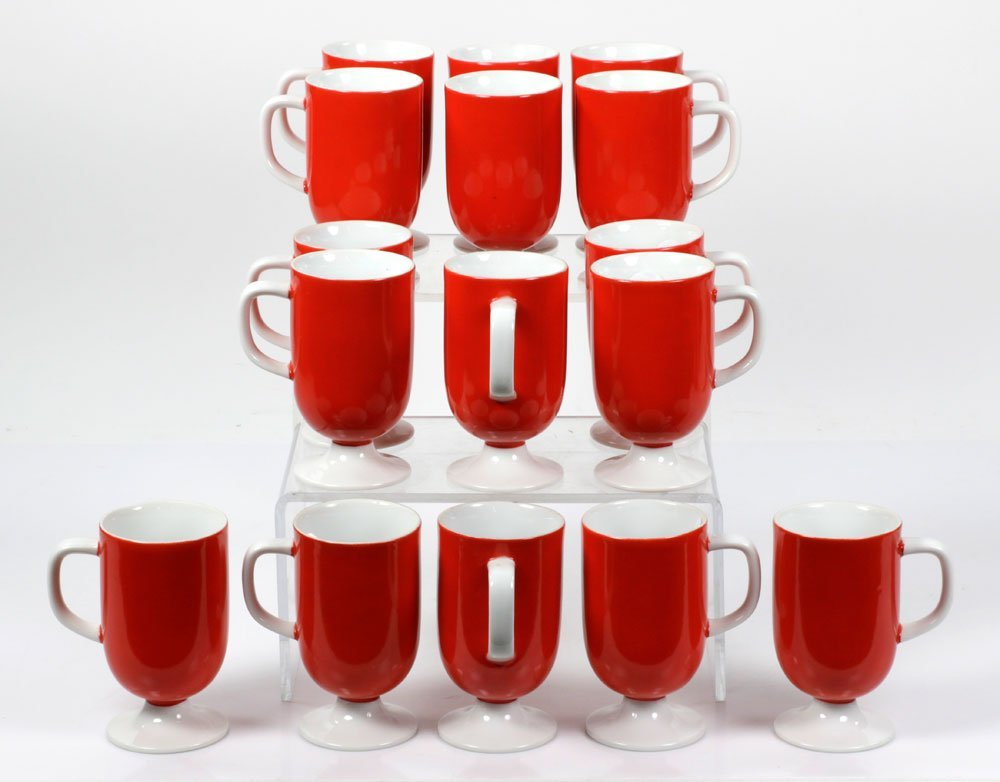 Lot of Italian Red Mugs
