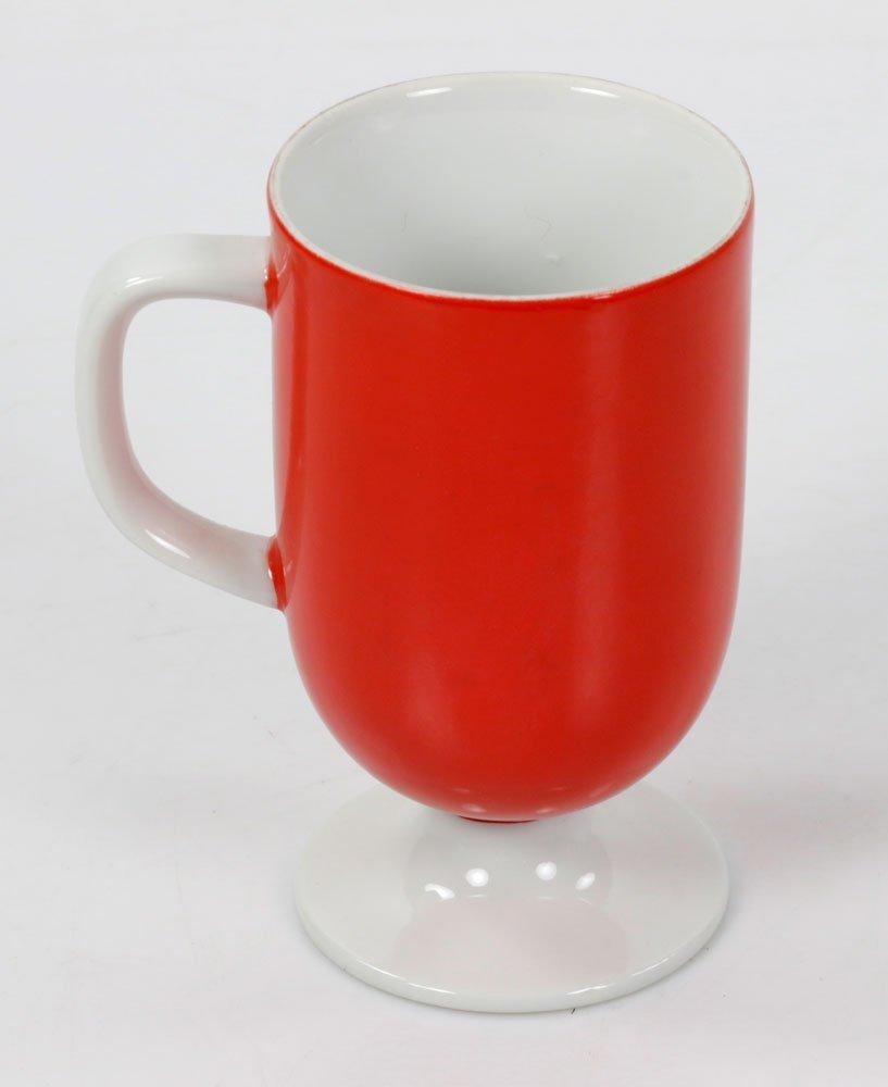 Lot of Italian Red Mugs - 2