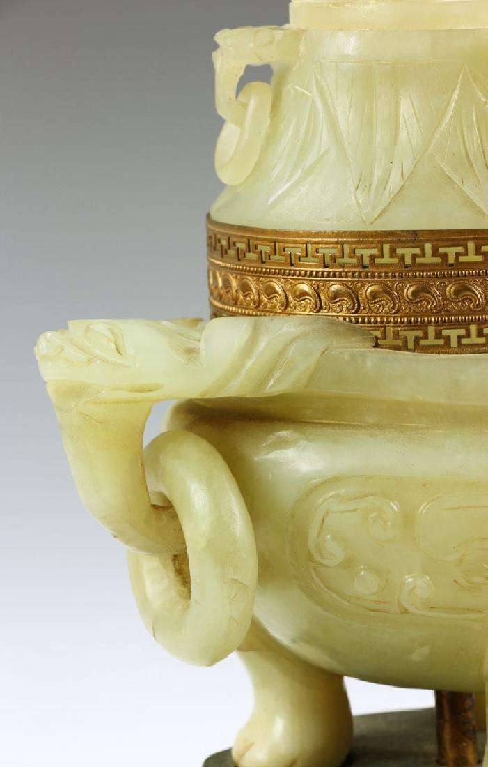 Antique Chinese Jade Censer Lamp - 6