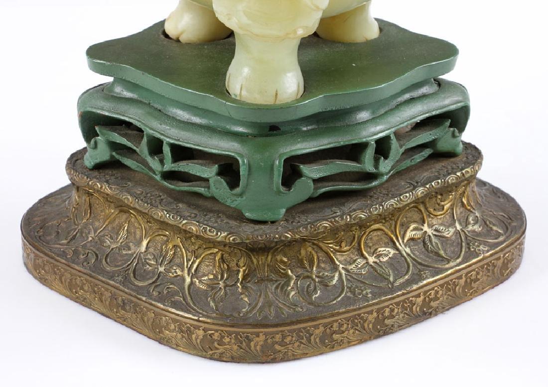 Antique Chinese Jade Censer Lamp - 7